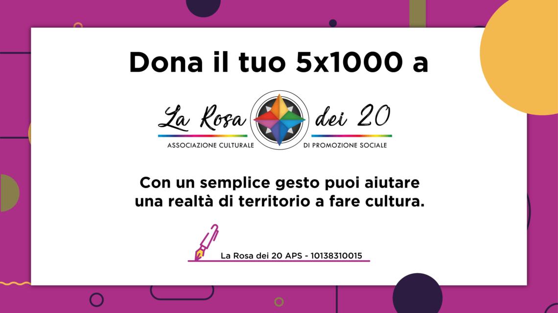 Aiutaci a diffondere la cultura. Dona il tuo 5×1000 – 10138310015